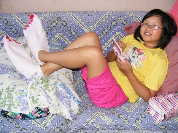 Skunkbait's Keep Em Barefoot and Pretty, Irreverent Happy Feet of Righteousness (monster Feet Slippers)