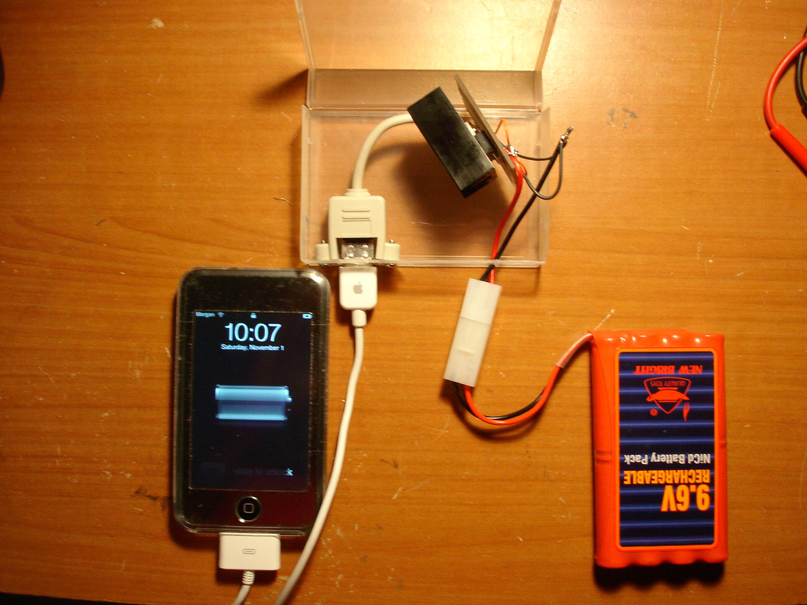 Homemade ipod battery pack
