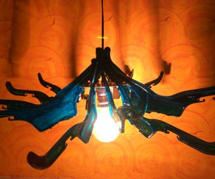 Recycled Lamp From Scrap Hangers.