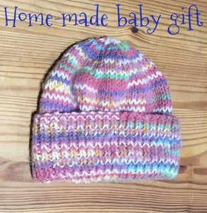 Knitted Hat for a New-born Baby