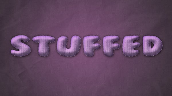 How to Create a Stuffed Text Effect Using Photoshop Cs6