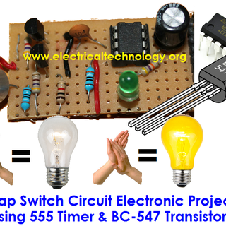 Clap Switch Circuit Electronic Project Using 555 Timer and BC547 Transistor.png