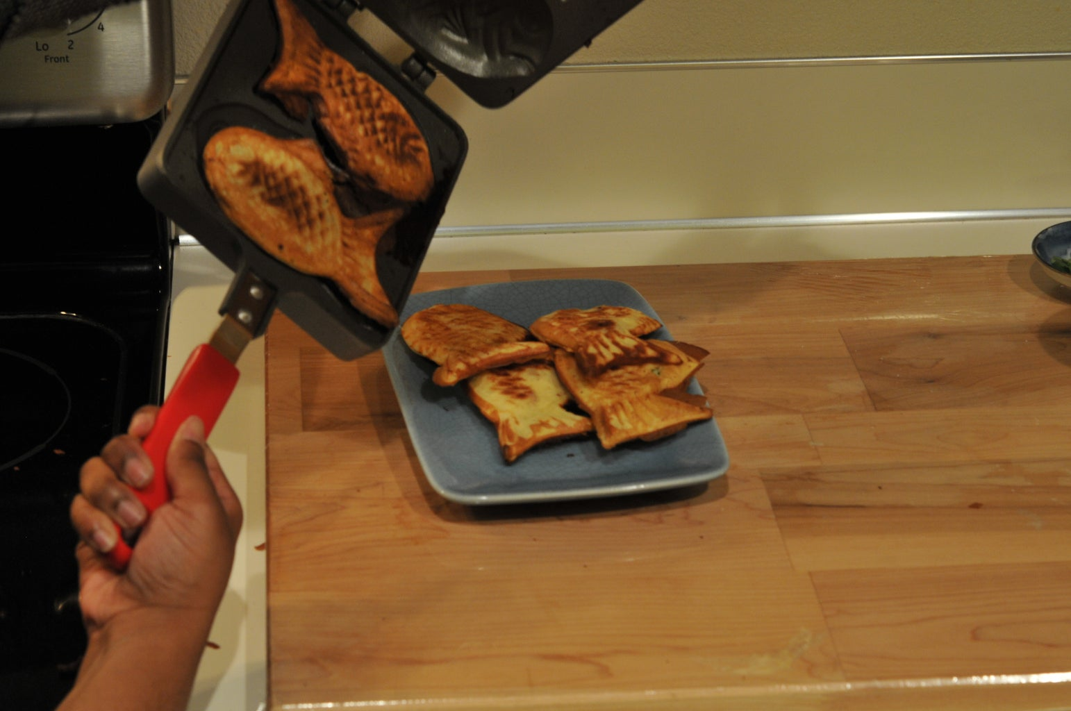 Remove the Taiyaki From the Pan and Trim Off Any Sharp Edges