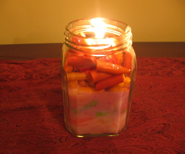 Transform Your Kids' Broken Crayons Into Candles