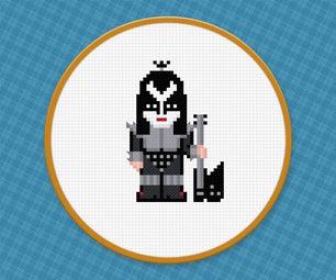 Gene Simmons From Kiss - Cross Stitch PDF Pattern