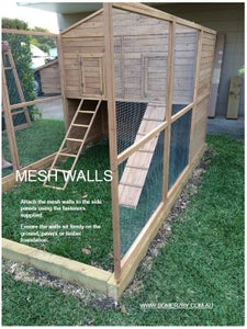 Attaching Mesh Walls to Your Chicken Coop