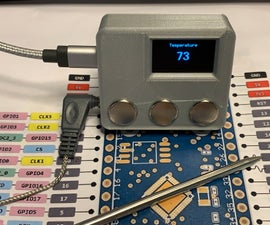 ESP32 NTP Temperature Probe Cooking Thermometer With Steinhart-Hart Correction and Temperature Alarm.