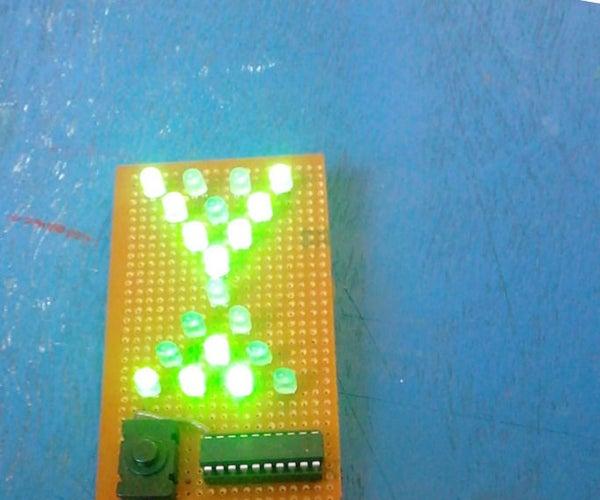 Attiny2313 Based Electronic Hourglass