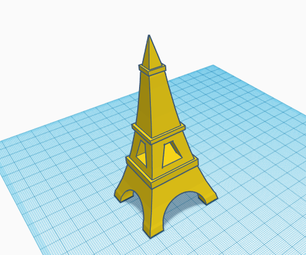 Eiffel Tower 3D Design in TinkerCad
