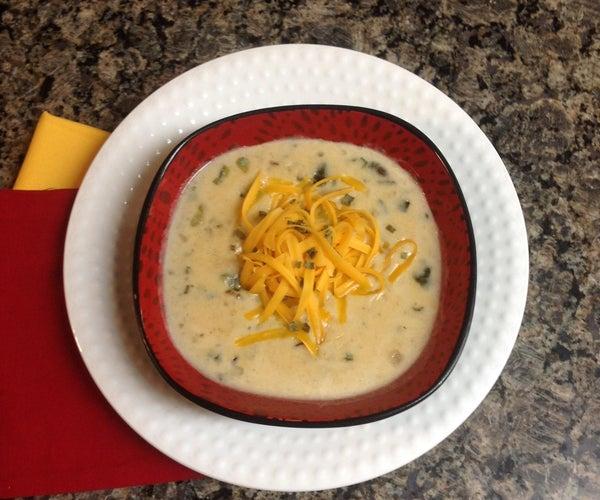 Smoky Potato-Poblano Soup