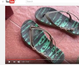 Upgrade Your Basic Flipflops With Rope or Ducktape Only
