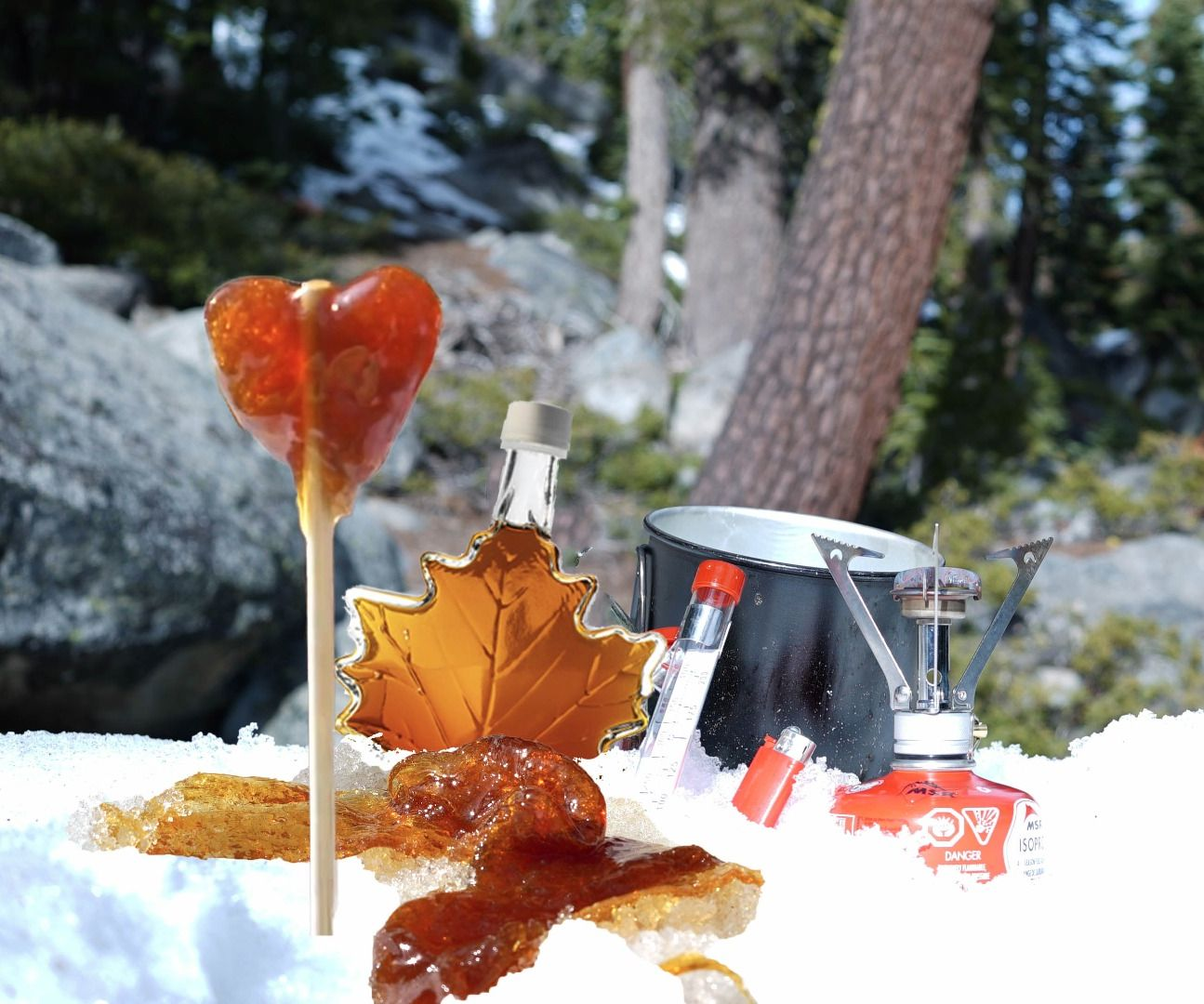 Maple Syrup Taffy - Sugar on Snow
