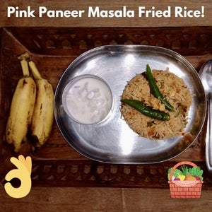 OnePot (Home-made) Pink Paneer Masala Fried Rice!