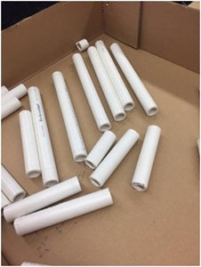 Cut and Polish the PVC Pipe
