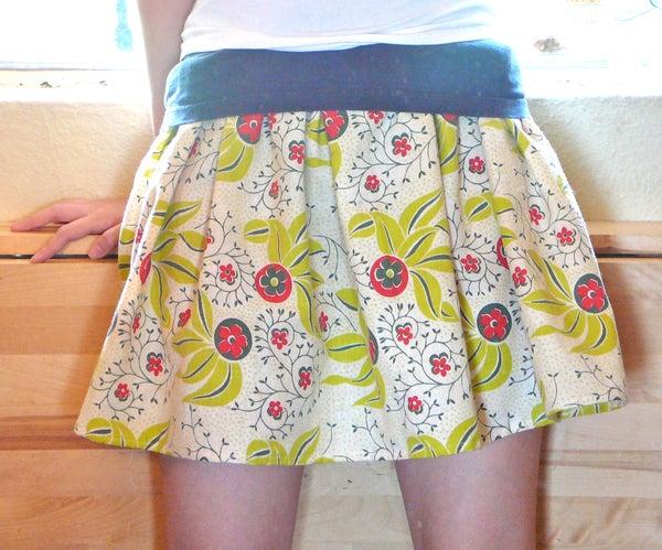 T Shirt Ruffle Skirt