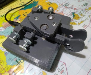 3D Printed Twin Paddle Cw Key