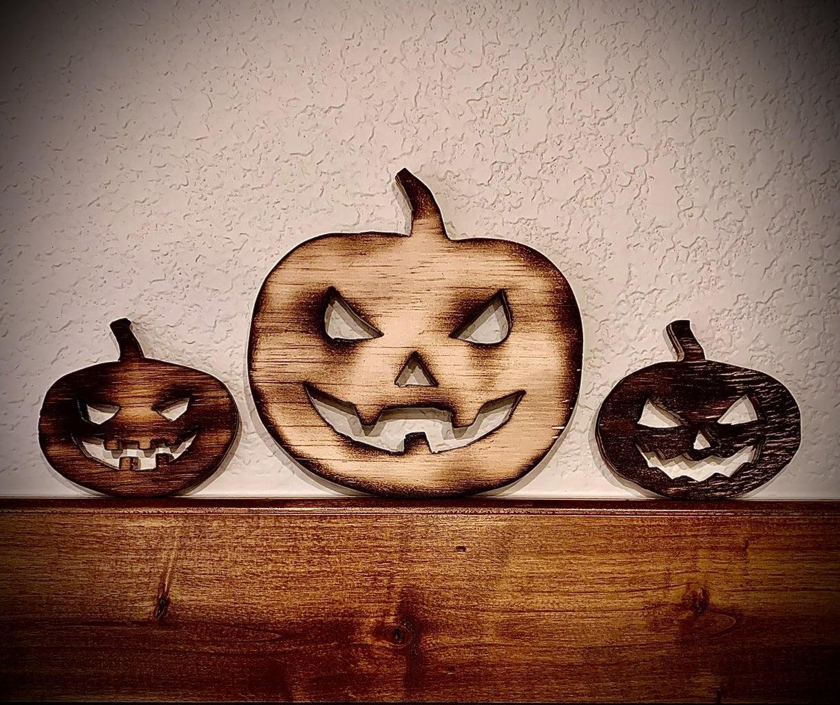 Wooden Pumpkin Decorations