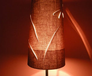 Pretty Up a Lamp Shade With Cutouts.
