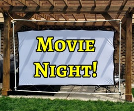 DIY Inexpensive Collapsible Projector Screen Frame