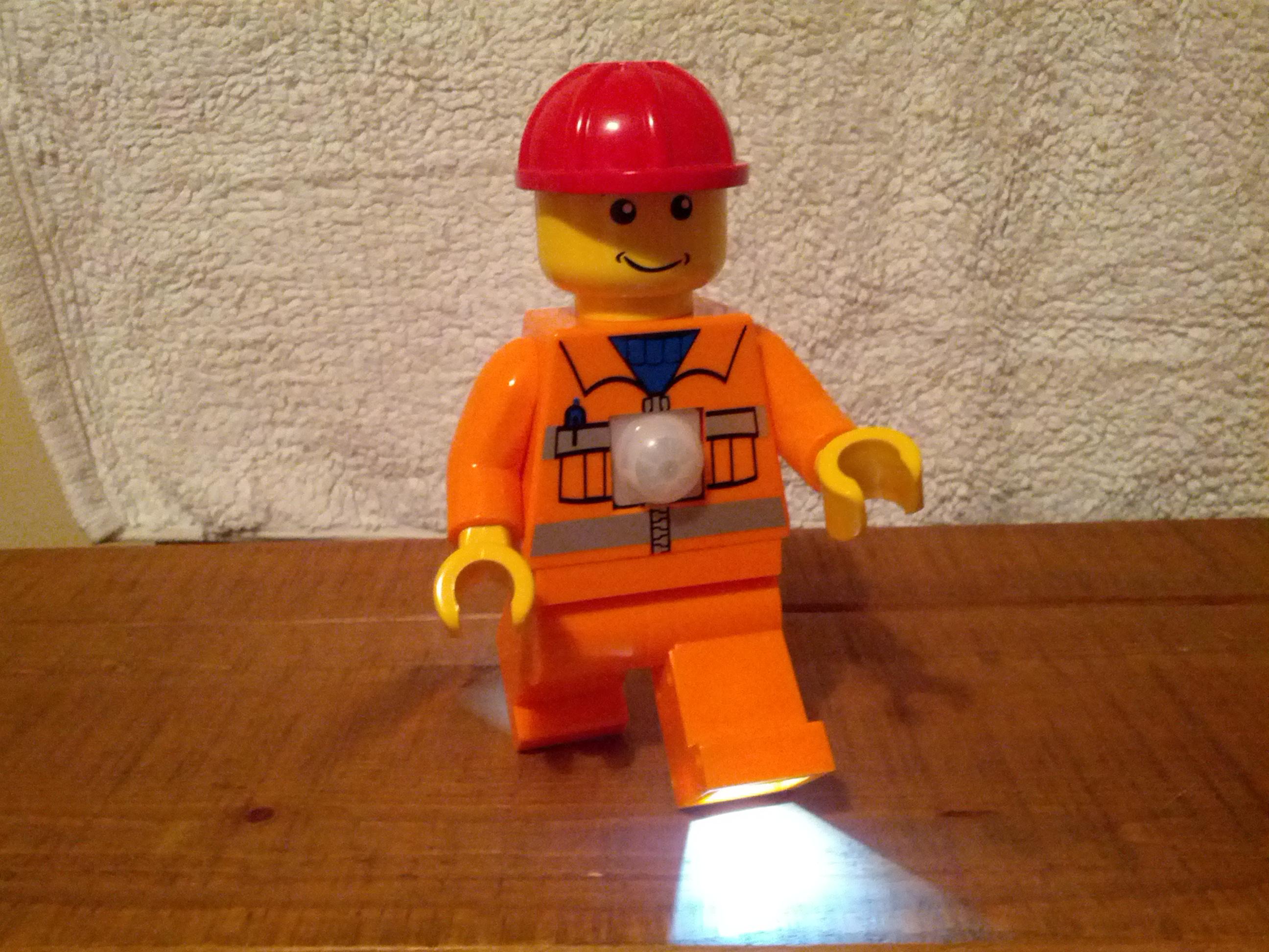 Motion sensing Lego figure nightlight