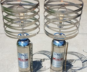 Vintage Fire Extinguisher Lamps