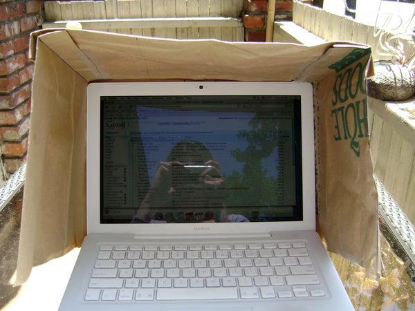 DIY Laptop Sunshade