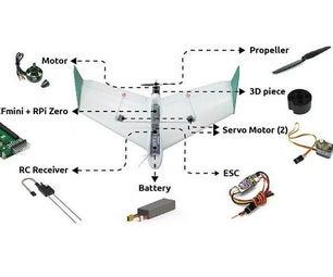 Pi Zero Plane: a $150 Smart Fixed Wing Drone With the Pi Zero