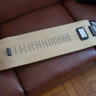 Lap Slide Guitar Skate Board