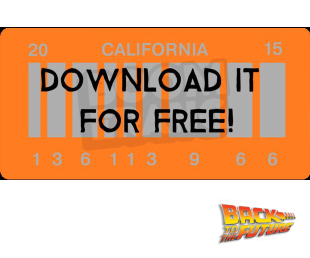 Back to the Future II License Plate