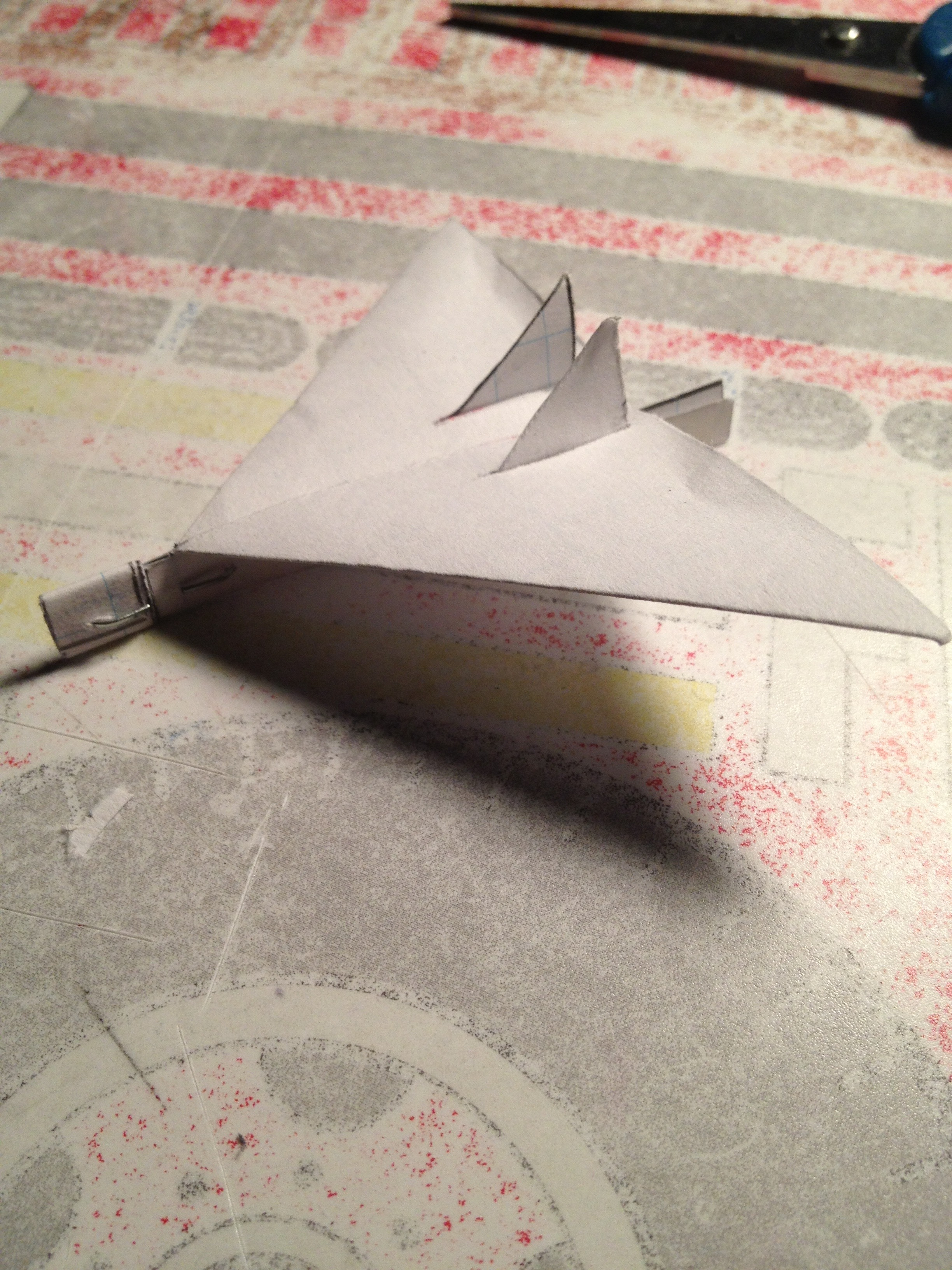 Mini Paper Airplane Glider: Raptor, Version 1.0