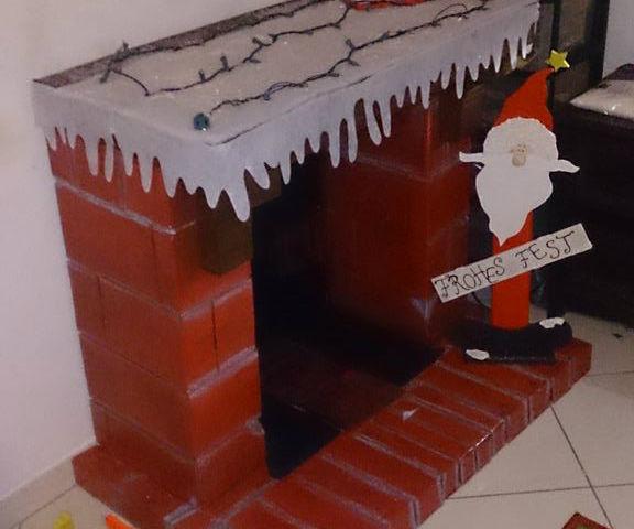 Decorative Cardboard Fireplace