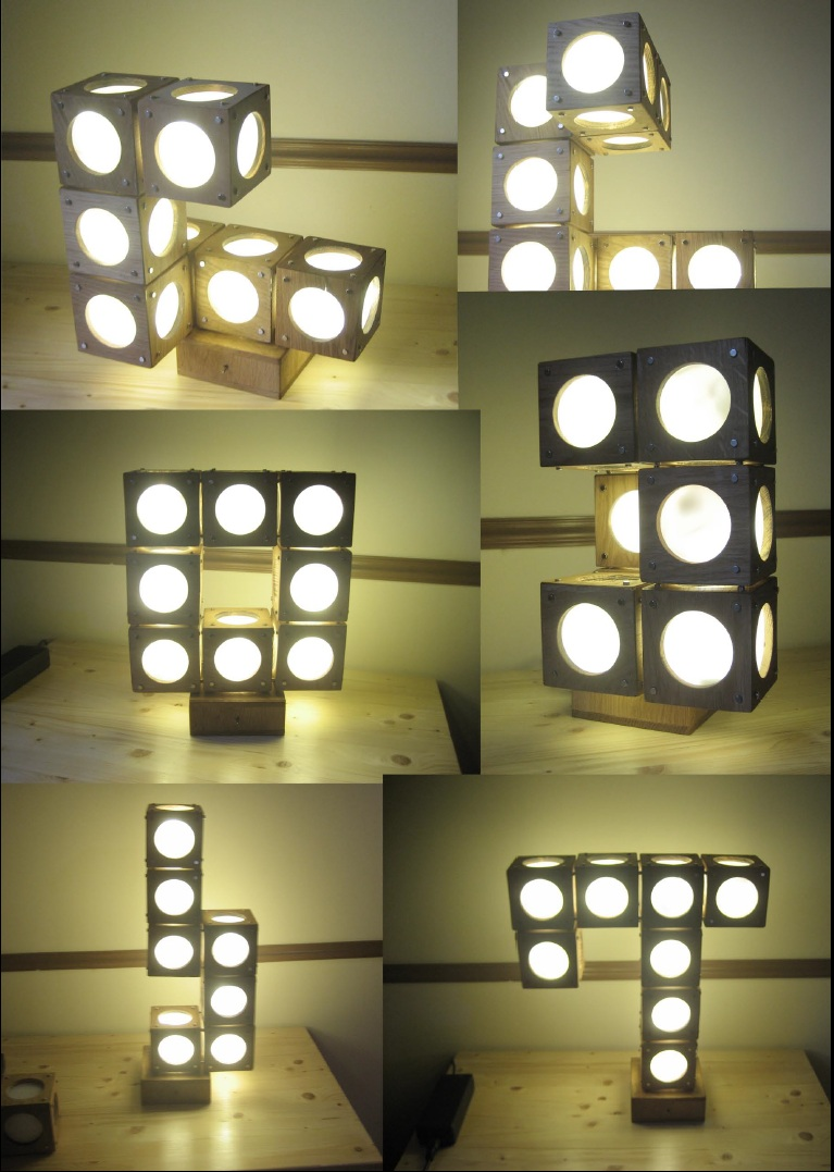 Magnetic table lamp