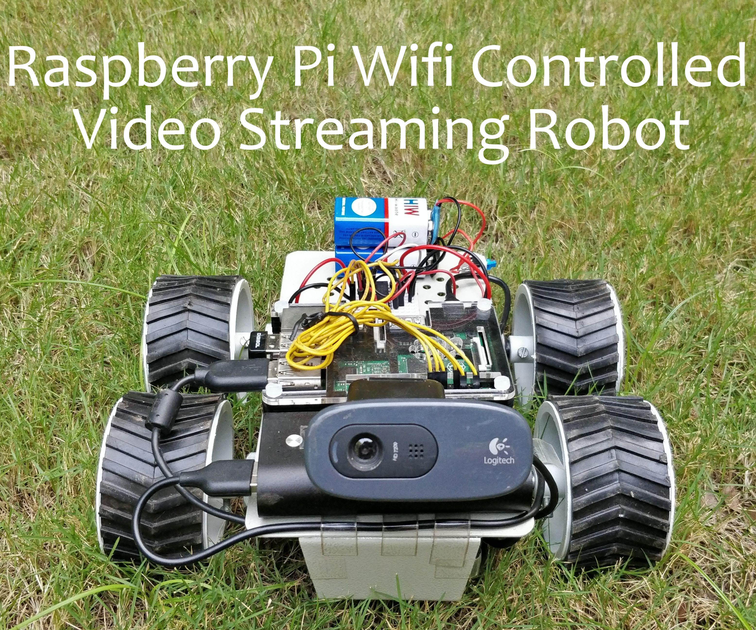 Raspberry Pi Wifi Video Streaming Robot