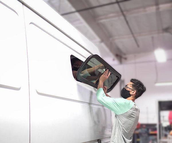 DIY Camper Van Window Install