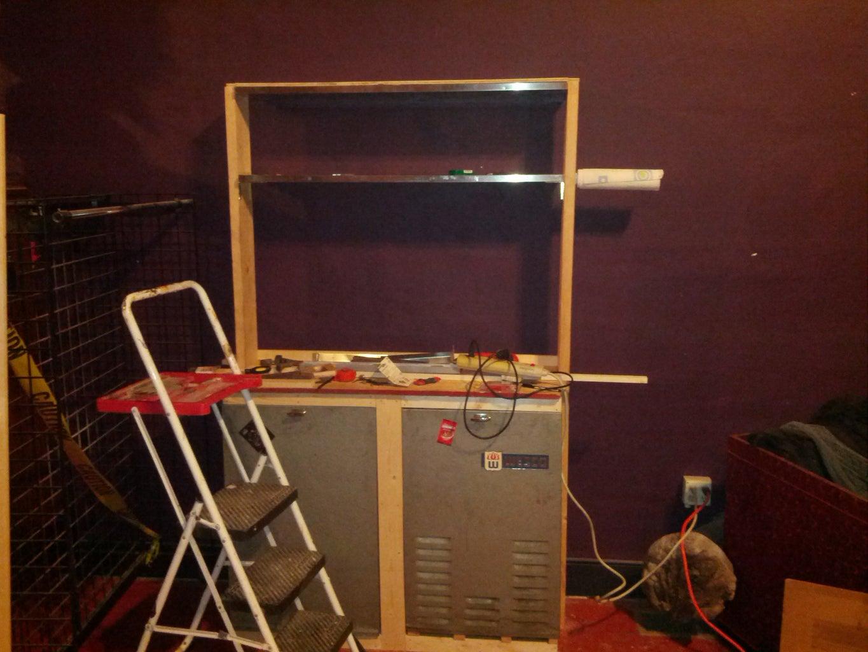 Shelves and Peg Board