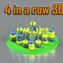 4 in a Row 3D Printed