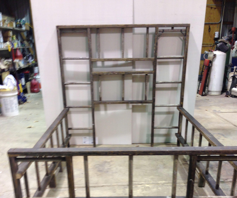 Old Wooden Ladder Bed