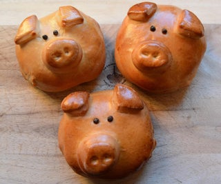Sweet Piggy Buns With Nutella Filling