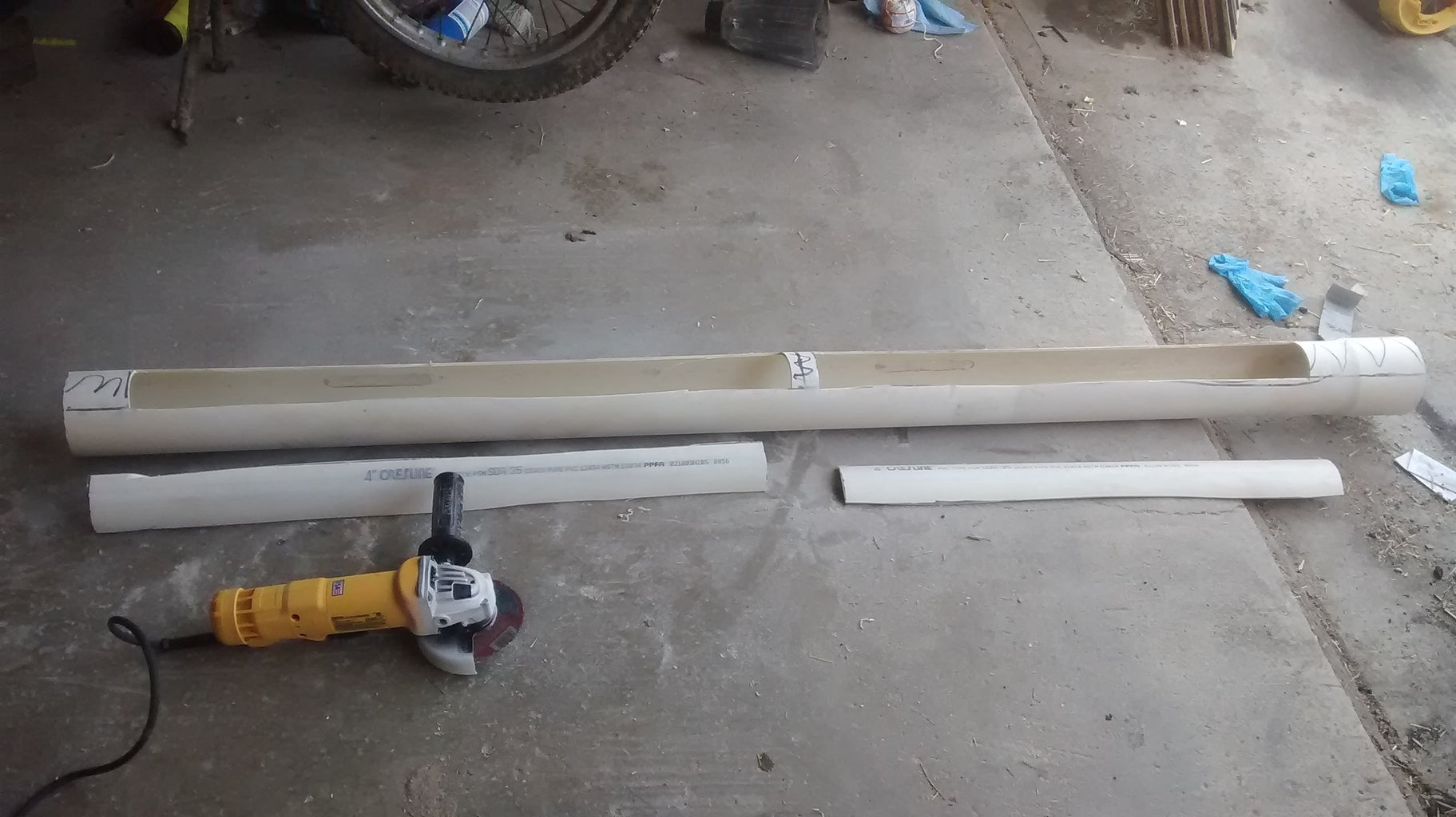 Cut+sand the Main Pipe