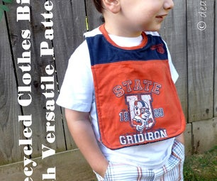 Recycled Clothes Bib with Versatile Pattern