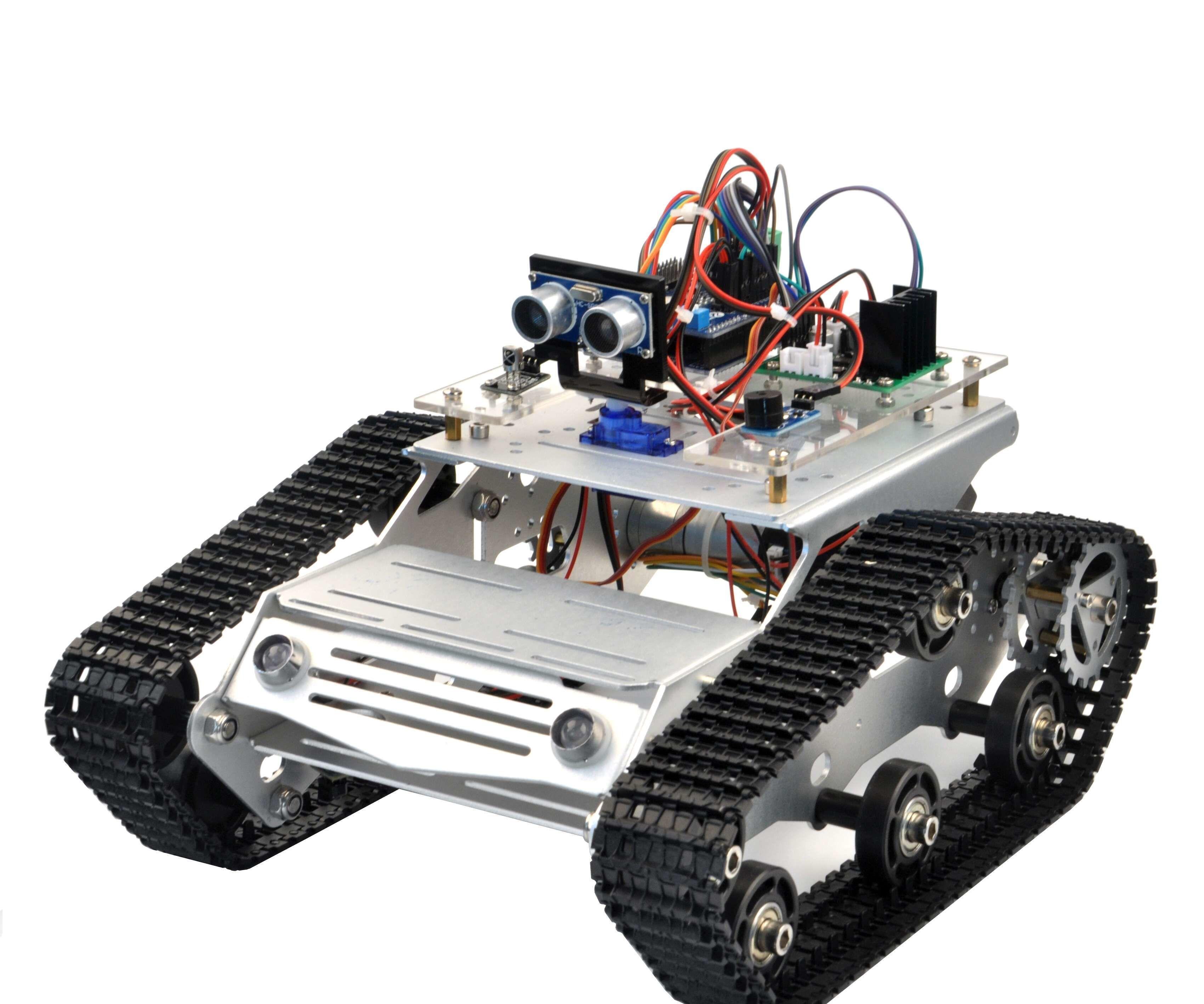 Arduino Tank Car Lesson 5-Black Line Tracking