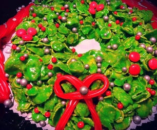 COLOSSAL Wreath! No Bake Cookie