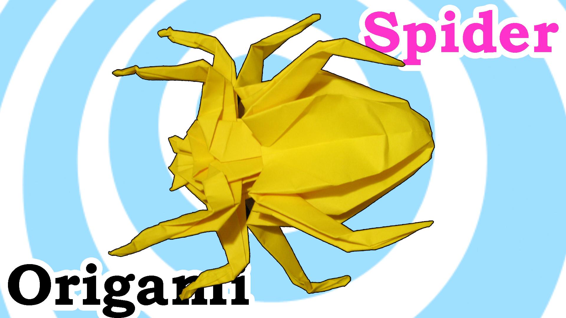 Origami Spider - Video tutorial