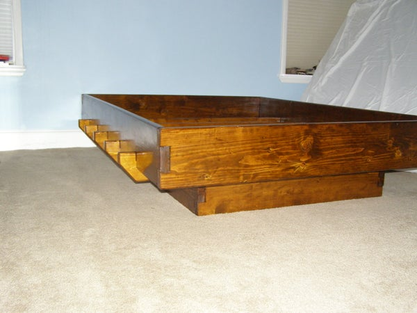 Bed Frame-Knockdown, No Fasteners or Glue
