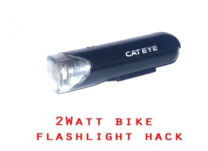 Bright Bike Flashlight Hack