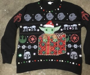 """The Child"" Ugly Holiday Sweater Aka: Baby Yoda-wear"