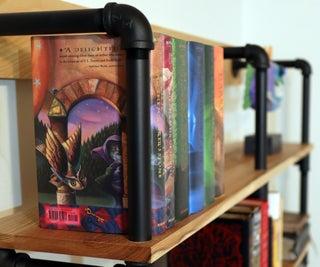 DIY Industrial Black Pipe Bookshelf!