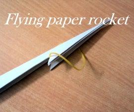Flying Paper Rocket in 9 Easy Steps
