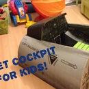 Fighter jet Cockpit for kids (kit ready for print included)