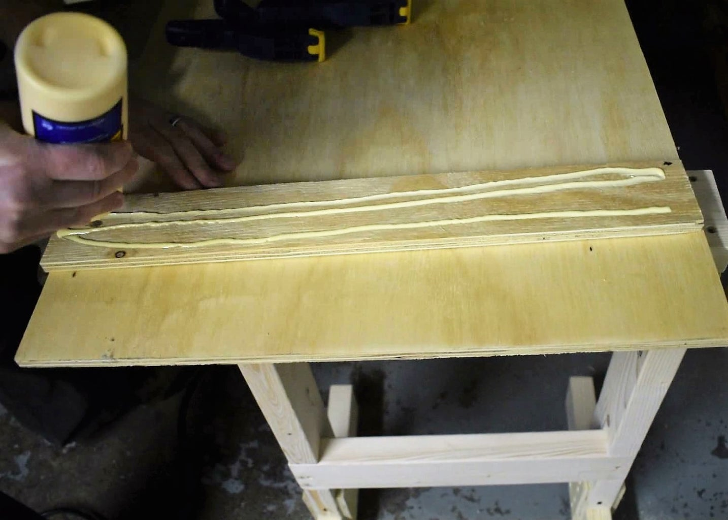 Cut and Glue the Table Top Guides